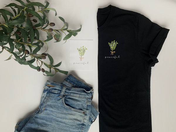 Wonder & Bloom - The Enne Tee: Peaceful (Enneagram Type 9: The Peacemaker)