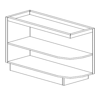 BASE END OPEN SHELF - Antique White R