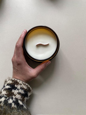 Rose Hammam - Hand Poured Soy Aromatherapy Candle - Wooden Wick - Small Batch Natural - Extra Large