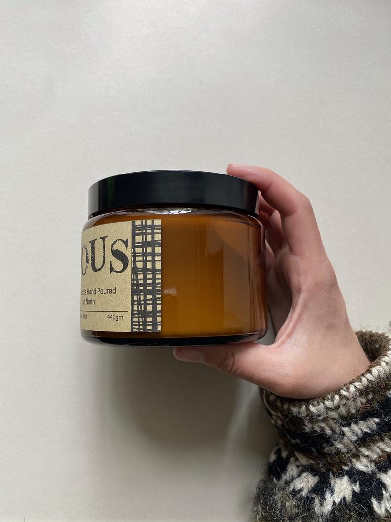 Lunette - Hand Poured Soy Candle with Wooden Wick - Extra Large