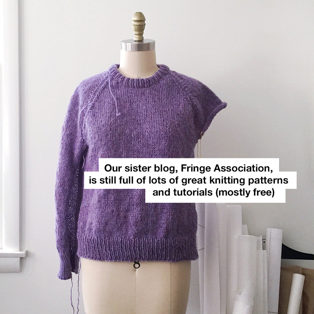 Free knitting patterns and tutorials at Fringe Association