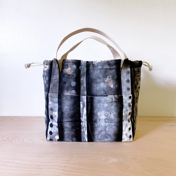 """Downtown"" hand-painted Town Bag"