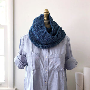 Double Basketweave Cowl knit kit