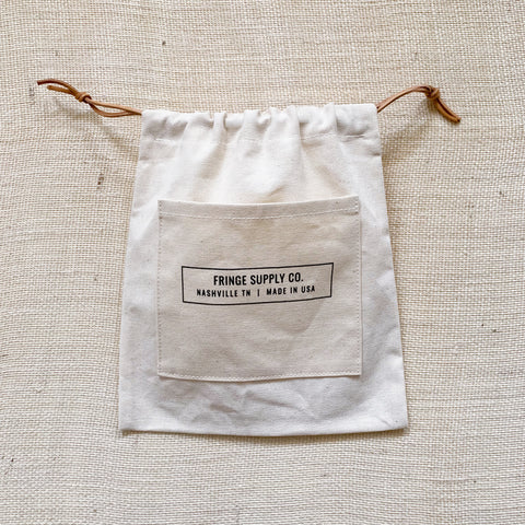 Fringe Supply Co. drawstring project bag