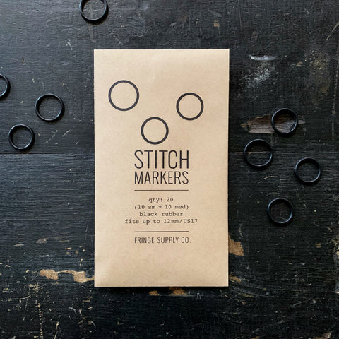 Black Stitch Markers