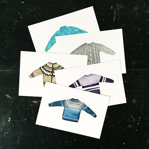 Sweater postcards (set of 5)