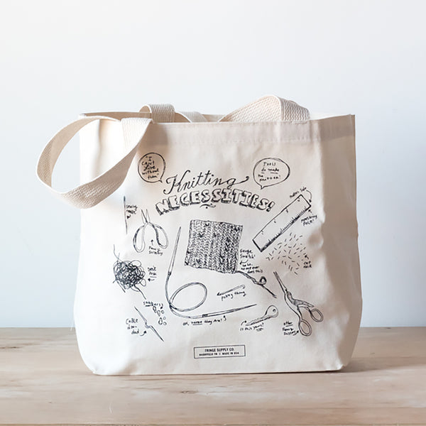 Knitting Necessities tote bag