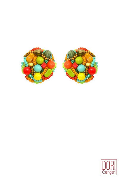 Carmel Clip On Earrings