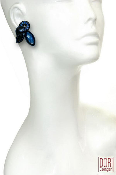Blue Glam Elegant Earrings