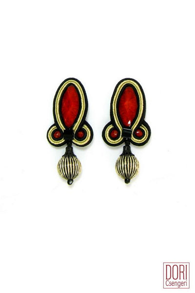 Hedone Red Earrings