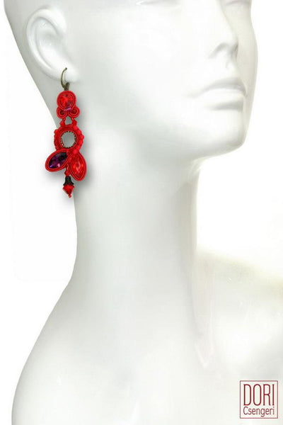 Lipstick Dangle Earrings