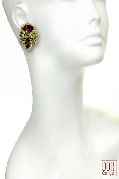 Maharajah Jewel Tone Earrings