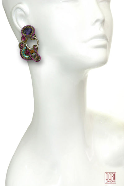 Night Out Unique Clip On Earrings