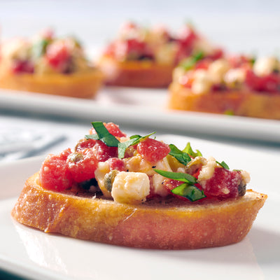 Bruschetta with Fire Roasted Sweet Peppers