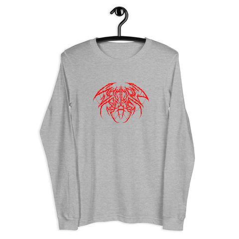Metal Unisex Long Sleeve - Red