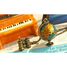 Wanderlust Vintage Globe Necklace Antique World Map Pendant With Charm
