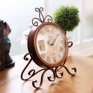 Vintage European Wrought Iron Clock for Home or Office