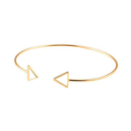 Adventure Awaits Double Triangle Cuff Bangle