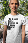 Blank Canvas White Unisex T-Shirt-Fat Pinky-brucepalma.com