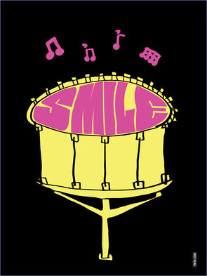 Smile Drum Poster