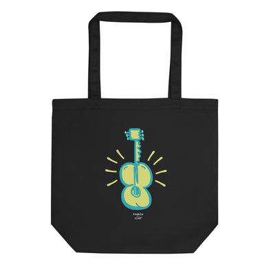 Big Guitar Organic Tote Bag