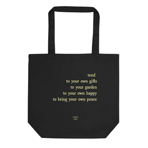 Garden Peace Tote Bag