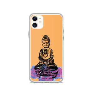 Orange Delight Buddha iPhone Case