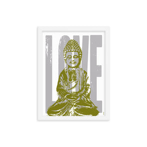Love + Peace Framed Print