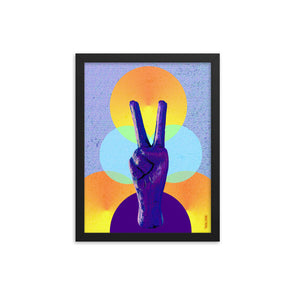 Peace Circles Framed Art Print