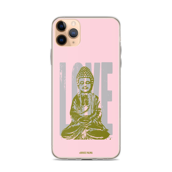 Love+ Pink Peace iPhone Case