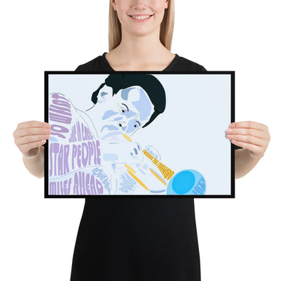 Blue Trumpet Poster