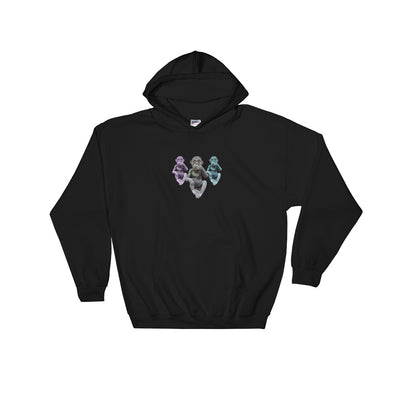 3 Chimps Hooded Sweatshirt