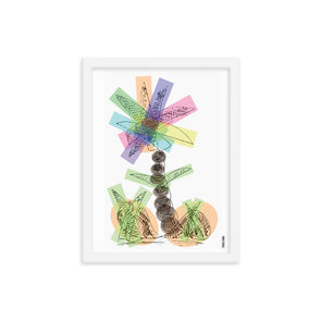 Rainbow Palm Framed Art Print