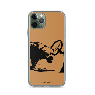 Hot Rod Dog Brown iPhone Case