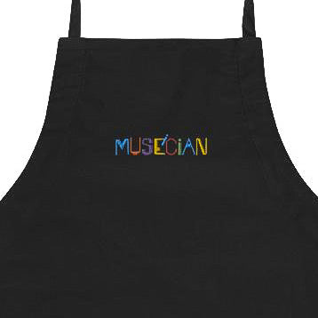 Museician Embroidered Apron