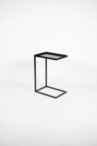 FARAH Black Edition. Side Table/Laptop Table in Black Steel