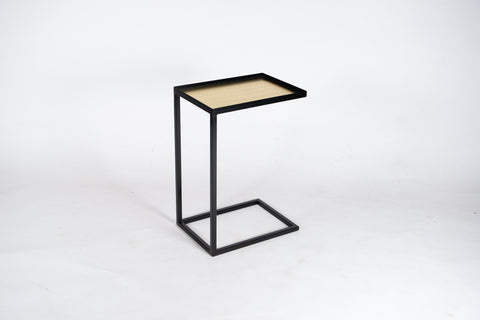 FARAH Gold Edition. Side Table/Laptop Table in Black Steel and Brass
