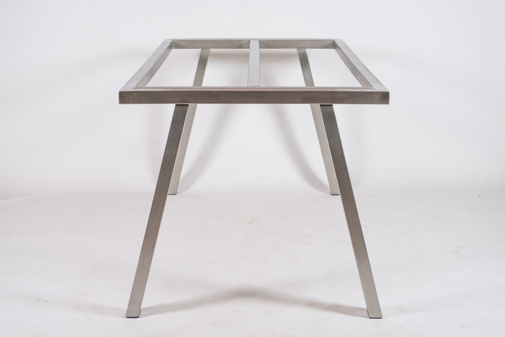 Brushed Stainless Steel Table Base For Outdoor Indoor Use Tilia