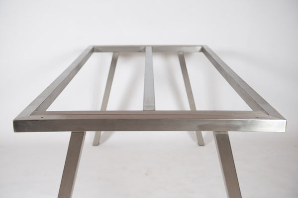 VALENCIA - Stainless Steel Table Base/Legs for Outdoor/indoor Use. Suitable for Stone, Glass and Wood.