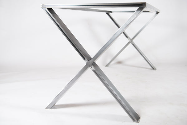 FREYA - X Shape Table Base. For Quartz, Granite, Marble, Wood, Glass Table