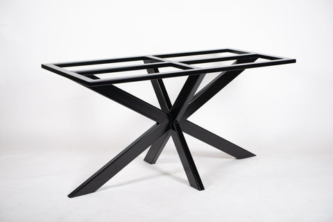 XEA. X Shape - Metal Table Base. For Heavy Stone, Glass or Wood