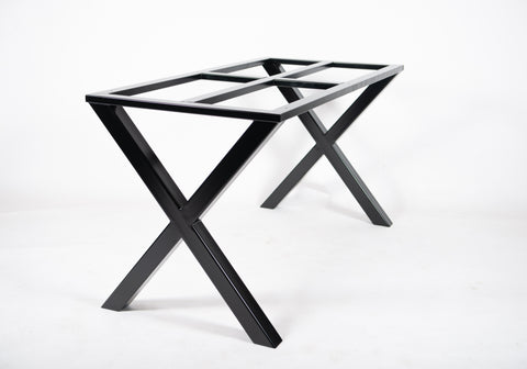 The 'X' - Metal Table Base. Suitable for Stone, Wood and Glass