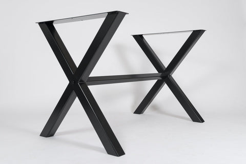 The 'XX' Metal Dining Table Base/Legs Industrial Farmhouse Style
