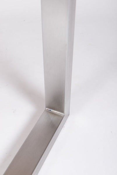 JOYO. Trapezium Shape - Brushed Stainless Steel - Table Legs