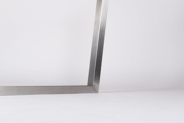 RABEA. Brushed Stainless Steel - Table Legs (Pair)