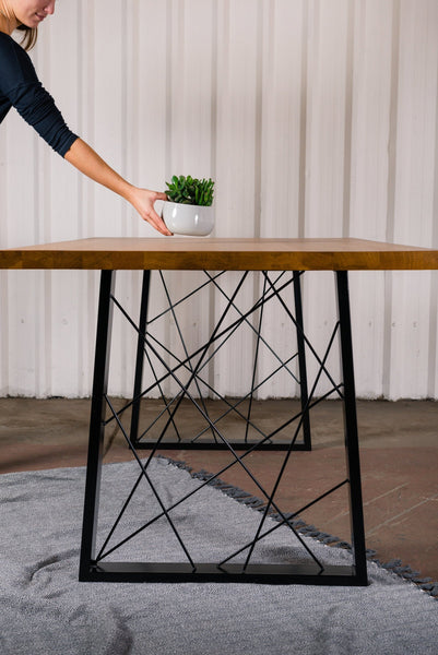 GEO. Trapezium Shape - Table Legs (PAIR)