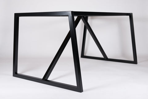 INKA. Metal Dining Table Base - For Stone, Glass & Wood