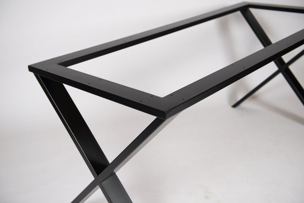 FREYA - X Shape Table Base. For Stone, Wood and Glass
