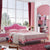 HB Rooms Pink Pastures Royal Queen Bed (#8101B) (Smaller size available)