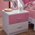 HB Rooms Pink Pastures Bedside Table (#8101B)